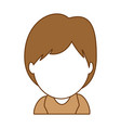 baby face avatar character vector image vector image