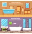 Bathroom Interior Banner Set vector image