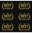 Best Film Award vector image