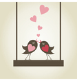 Bird of love9 vector image vector image
