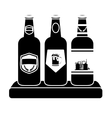 black bottles of beer icon image vector image vector image