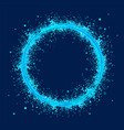 blue abstract ring with grunge the whirlwind of vector image vector image