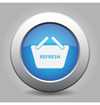 blue button shopping basket - refresh vector image