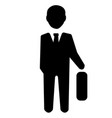 businessman officer icon vector image vector image