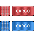 cargo container Stock vector image vector image