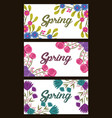 collection banner horizontal flowers decoration vector image