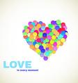 Colorful Confetti Heart vector image