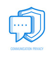 communication privacy icon - speech or vector image