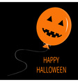 Cute cartoon funny orange balloon pumpkin with vector image vector image