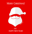 cute santa claus head with merry christmas vector image