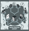 data center color concept vector image vector image