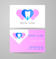 dental clinic logo business card template vector image