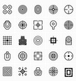 different target icons vector image