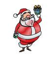drawing santa claus christmas character style vector image vector image