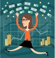 Financial success vector image vector image