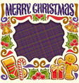 frame for merry christmas vector image
