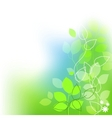 fresh leaves summer background vector image vector image