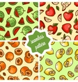 fruit patterns set vector image vector image