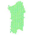 green hexagonal italian sardinia island map vector image vector image