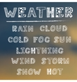 hand draw weather icon set vector image