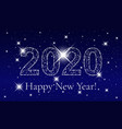 happy new year 2020 poster template vector image vector image