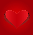 heart red cut from paper vector image vector image