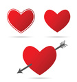 heart with arrow in red vector image vector image