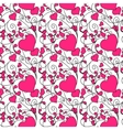 Hearts and swirls on on a light background vector image vector image