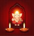 indian god ganesh vector image vector image