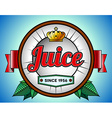Juice or soda label vector image vector image