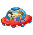 kids in spaceship vector image vector image
