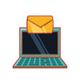 laptop with envelope email vector image vector image