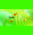 liquid color background design green fluid vector image vector image