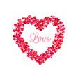Love inside heart frame romantic decoration