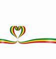 malian flag heart-shaped ribbon vector image vector image