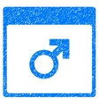 Mars Male Symbol Calendar Page Grainy Texture Icon vector image vector image
