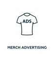 merch advertising icon symbol creative sign from vector image vector image