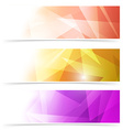 Modern triangular web banner collection vector image vector image