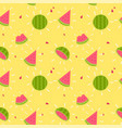 modern watermelon orange pattern background vector image
