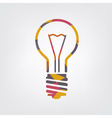 mosaic light bulb vector image vector image