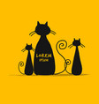 mother cat with kittens sketch for your design vector image vector image