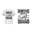 mountain sheep hunt t-shirt print mockup emblem vector image vector image