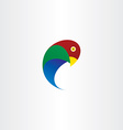 parrot bird icon symbol vector image vector image