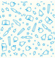 pattern back to school with thin line icons vector image