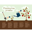 planting tree process vector image vector image