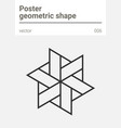 poster minimal geometric shape vector image vector image