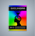 quick learning brochure or book cover template on vector image vector image