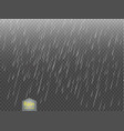 rain transparent template background falling vector image vector image