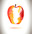 Red abstract apple vector image vector image