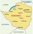 Republic of Zimbabwe - map vector image vector image